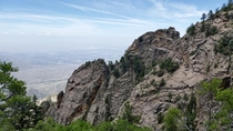 View from the Sandia Mountains in Albuquerque NM