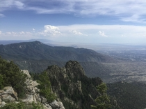 View from the Sandia Mountains near Albuquerque New Mexico