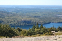 View from the summit Acadia National Park Maine OC X