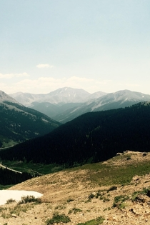 View from the summit of Independence Pass CO Makes the hairpin turns worth it