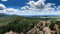View from the summit of Raspberry Mountain near Colorado Springs CO