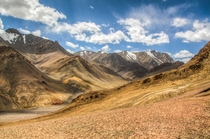 View from the summit of the Pamir Highway Tajikistan