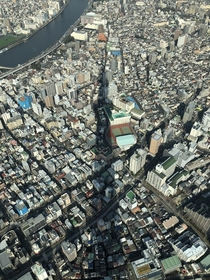 View from the Tokyo Skytree observation deck last January