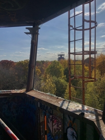 View from the top of an abandoned air traffic control tower