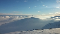 View from the top of Glencoe Mountain Scotland taken on my smart phone