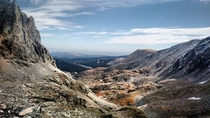 View from the top of Isabelle Glacier in the Indian Peaks Wilderness Area Nederland Colorado