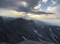 View from the top of Mount Evans Colorado