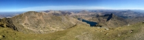 View from the top of Mount Snowdon Wales Taken yesterday