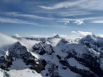 View from the top of Mount Titlis