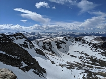 View from the top of Mt Evans CO Totally worth the  mile hike