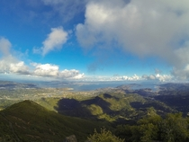View from the top of Mt Tamalpais