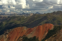 View from the top of Red Mountain near Ouray CO