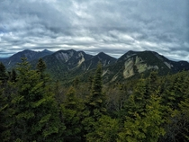 View from the top of Sawteeth Mountain in the Adirondack Mountains NY