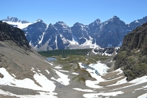 View from the top of Sentinel Pass Canadian Rockies OS  x