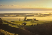 View from the top of the Papamoa Hills New Zealand