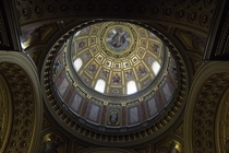 View into dome in St Stephens Basilica Budapest
