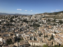 View of Albaicin from Alhambra Granada Andaluca Spain