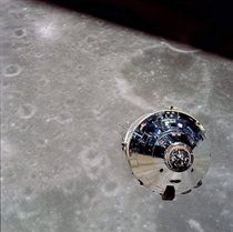 View of Apollo  Command and Service Module from the Lunar Module