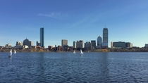 View of Back Bay Boston from across the Charles