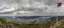 View of Bergen from Ulriken