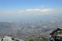 View of Cape Town South Africa from Table Mountain OC