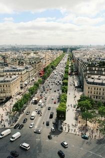 View of Champs lyses from the top of Arc de Triomphe