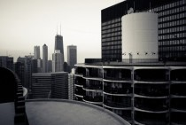View of Chicago from the top of Marina City