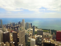 View of Chicago IL from top of the Willis Tower