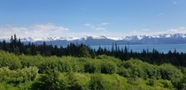 View of Dixon Portlock and Grewingk Glaciers from Homer Alaska