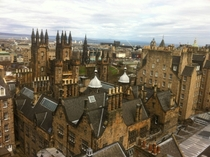 View of Edinburgh from the top the Camera Obscura x