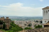View of Grenada Spain from the Alhambra