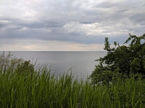 View of Lake Michigan From The Back of a Hydroponics Farm near Sheboygan Wisconsin x OC