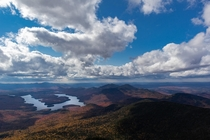 View of Lake Placid from Whiteface Mountain NY