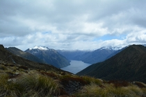 View of Lake Te Anau from the Kepler Track New Zealand