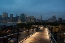 View of Manhattan from a walking bridge in Brooklyn  Photo by Sasha Juliard