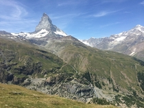 View of Matterhorn from Riffelberg Zermatt Switzerland Taken with my phone last summer