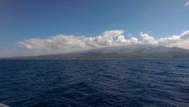View of Maui from Pacific Ocean