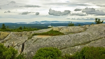 View of Mount Desert Island in Maine