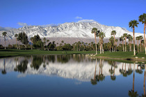 View of Mount San Jacinto from Palm Springs California  x-post from rpics