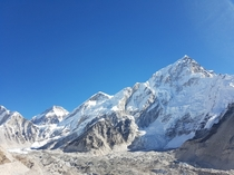 View of Mt Everest from Gorak Shep  m above sea level  OC