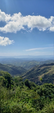 View of Nicoya Gulf from Monteverde Costa Rica