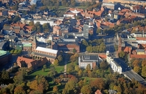 View of Odense Denmark in the early fall