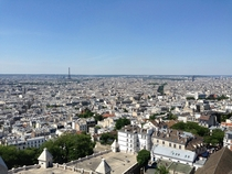 View of Paris France from Sacre Coeur Cathedral