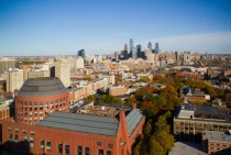 View of Philadelphia from the roof of my residence hall