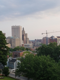View of Providence RI from Prospect Terrace