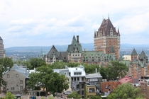 View of Quebecs Chateau Frontenac from the walls of the citadel