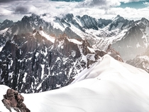 View of rugged Alps from Aiguille du Midi Chamonix France  IG visualsofanshul
