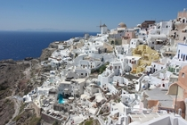 View of Santorini from Oia Castle