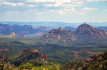 View of Sedona from End of the World Flagstaff AZ