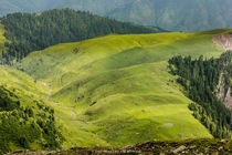 View of Shogran Meadows from Makra Peak Pakistan  By Murtaza Mahmud